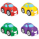 Happy Cute Cars Vector Illustration Royalty Free Stock Photography