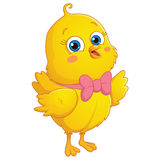 Happy Cute Chick Vector Illustration Stock Images
