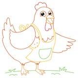 Happy Cute Chicken Vector Illustration Stock Photos