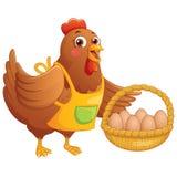 Happy Cute Chicken Vector Illustration Stock Photography