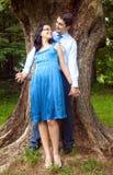 Happy cute couple outdoor Stock Image