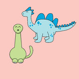 Happy Cute Dino. Cute Dino Cartoon for website, marketing, public advertaising, fun design for wallpaper, drawing book, poster Royalty Free Stock Image