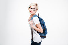 Happy cute female student Stock Images
