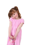 Happy, cute girl in pink. Happy, cute little girl in pink dress Royalty Free Stock Photos