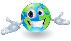 Happy cute globe character Stock Photo