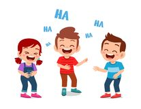 Free Happy Cute Kids Boy And Girl Laugh Together Stock Photos - 164179833