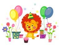 Happy cute  lion Stock Image