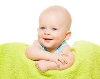 Happy cute little baby stock photo