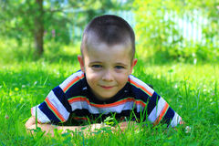 Happy and cute little boy Stock Images