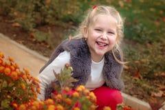 Happy cute little girl having fun Stock Photography