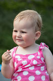 Happy cute little girl outdoor Royalty Free Stock Photography