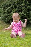 Happy cute little girl outdoor Royalty Free Stock Photos