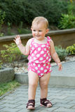 Happy cute little girl outdoor Royalty Free Stock Photo