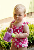 Happy cute little girl outdoor Stock Photo