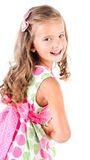 Happy cute little girl in princess dress isolated Royalty Free Stock Photo
