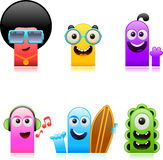 Happy cute monsters set 1 Stock Image