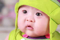 Happy cute 3-month old Asian baby Stock Photography
