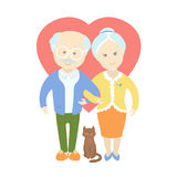 Happy cute old couple - Grandma and Grandpa Royalty Free Stock Photography