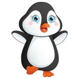 Happy Cute Penguin Vector Illustration Stock Photography