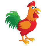 Happy Cute Rooster Vector Illustration Royalty Free Stock Photography