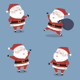 Happy cute Santa Claus's collection set for Christmas. Vector illustration Royalty Free Stock Photo