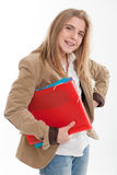 Happy cute student Royalty Free Stock Images
