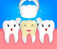 Happy cute tooth character. Stock Photo