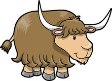 Happy Cute Yak Vector. Illustration Royalty Free Stock Photography