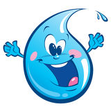 Blue happy drop Royalty Free Stock Image