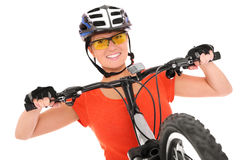 Happy cyclist Royalty Free Stock Photos