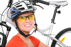 Happy cyclist Stock Photography