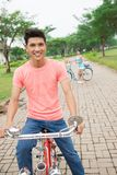 Happy cyclist Stock Image