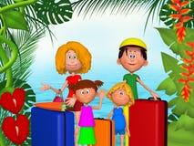 Happy 3d family vacations Royalty Free Stock Photography