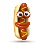 Happy 3d hotdog Stock Image