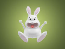 Happy 3d rabbit Royalty Free Stock Photography