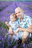 Happy dad with baby son Stock Photos
