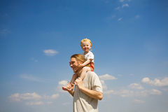 Happy dad and daughter Royalty Free Stock Photos