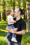 Happy dad with daughter Royalty Free Stock Images