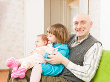 Happy dad with daughters Royalty Free Stock Photography