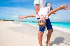 Happy dad have fun with his little cute girl Stock Photography