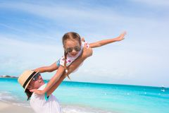 Happy dad have fun with his little cute girl Royalty Free Stock Photo