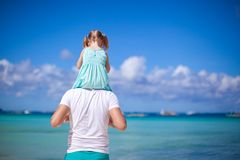 Happy dad and his adorable little daughter at Stock Photos