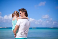Happy dad and his adorable little daughter Stock Images