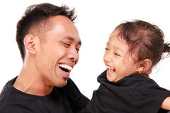 Happy dad and his daughter Royalty Free Stock Photos