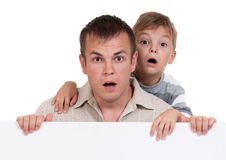Happy dad and son Royalty Free Stock Images