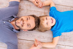 Happy dad and son. Stock Photography