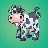 Happy Dairy Cow. Vector drawing of a Happy little dairy cow drawn in a humorous cartoon style vector illustration