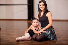 Happy dance instructor and student Stock Image