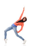 Happy dancer pointing Royalty Free Stock Image