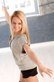 Happy dancer in a pose Royalty Free Stock Photos